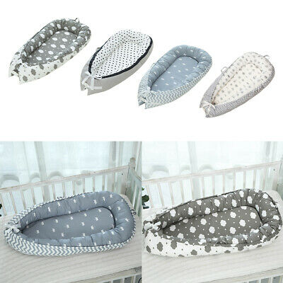 Baby Bassinet Bed Soft Foldable Breathable Infant Lounger Crib Portable