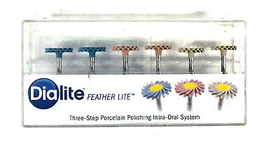 6 Pack Dialite Feather Lite Porcelain Polishing Assortment Pack Brasseler USA