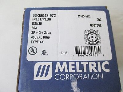 Meltric 63-38043-972 Inlet with 2 Pilots Male.