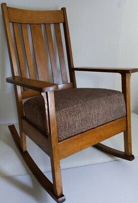 Crafts Solid Oak Wood Rocking Chair