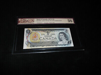 Bank Of Canada 1973 $1.00 Replacement Banknote Bcs Graded===============