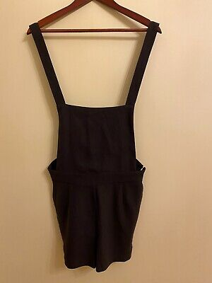 NWT One Clothing Black overall shorts Size S