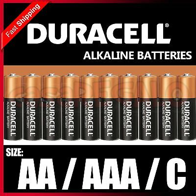 Genuine Duracell AA AAA C Alkaline Batteries Battery LASTS UP TO 50% LONGER*