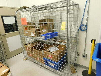 Wire Security Cart - Metro Shelving / Racking With Locking Doors and Two Shelves
