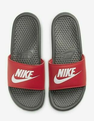 Nike Benassi JDI Men's Slide 343880 028 iron grey/white/track red Free Shipping