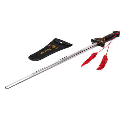 Outdoor Kung Fu Tai Chi Extension Sword Stainless Steel Telescopic Sword@J#L