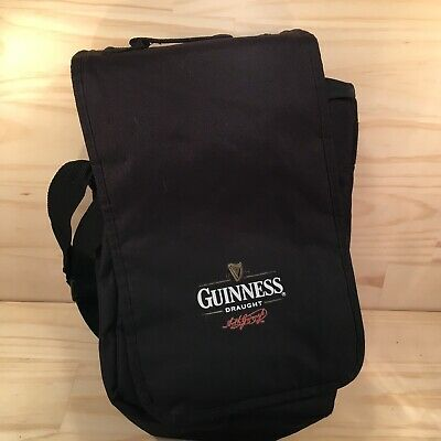 "GUINNESS DRAUGHT ""Black"" Promotional Alcohol Bottle Carry Bag Cooler Bag"