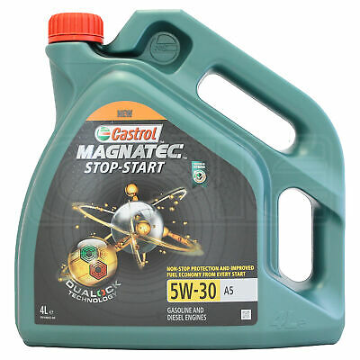 Castrol Magnatec Stop-Start 5W-30 5W30 A5 Fully Synthetic Engine Oil 4 Litres 4L