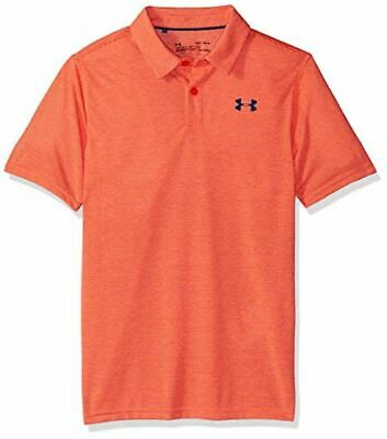 Under Armour UA Boy's Threadborne Golf Polo Shirt - Orange - New