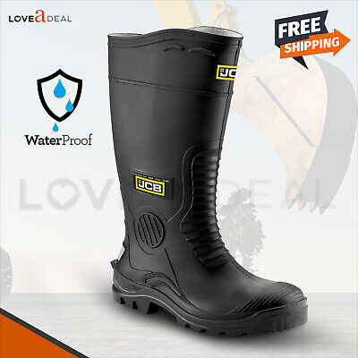 Mens JCB Hydromaster Safety Wellington Wellies Work Boots Black (Sizes 7-12)