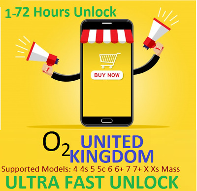 Factory unlock O2 Tesco iPhone  Service 4 5 6 6+ 6S+ 7 7+ 8 8+ X XR XS Mass