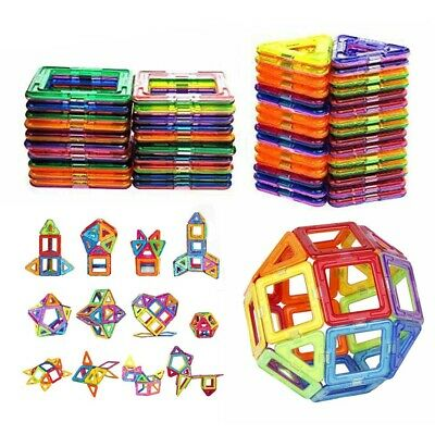 100/50PCS Magnetic Building Blocks Construction Educational With Kids Magic Toys