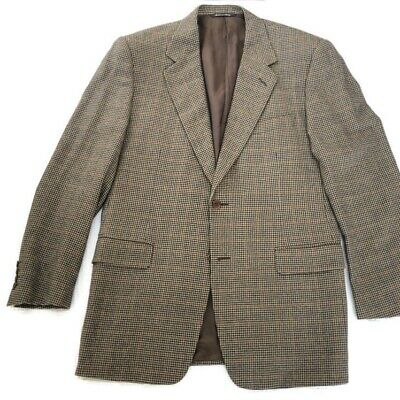 Canali Grey Hounds Tooth  Lana Cashmere Wool Blend Sport Jacket Blazer 42 R
