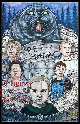 Art Poster Pet Sematary Movie Stephen King Horror 12x18 32x48 Wall Print Y-475
