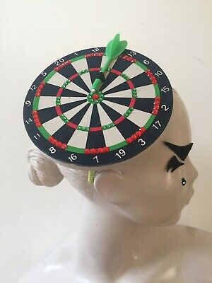 Dart Board Headband Hat Fasinator Darts Sports Novelty Bullseye Novelty