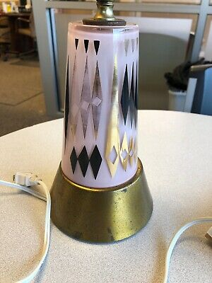 Vintage Ying Long Lamp With Handpainted Glass Inside Lights Up Very Cool