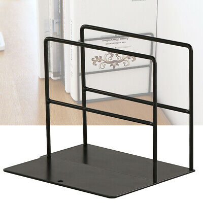 1 Pair Simple Shelves Bookends Anti Slip Decorative Supports Wrought Iron Stand