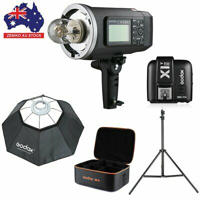 AU Godox AD600BM 2.4G HSS Flash+ X1T-S For Sony +95cm Softbox+2m light stand Kit