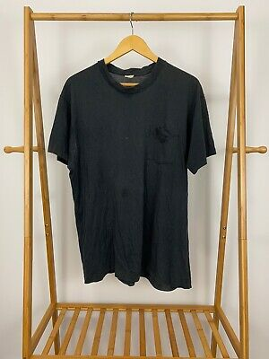 VTG 80s Fruit Of The Loom Selvedge Pocket Front Blank Single Stitch T-Shirt XXL