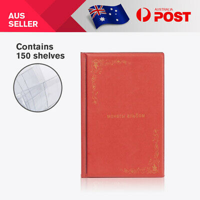 2x150 Australian Coin Album large slots Holder Storage Book Suit 50 cent Red