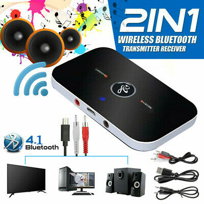 2in1 Bluetooth Transmitter&Receiver Wireless A2DP Home TV Stereo Audio Adapter H