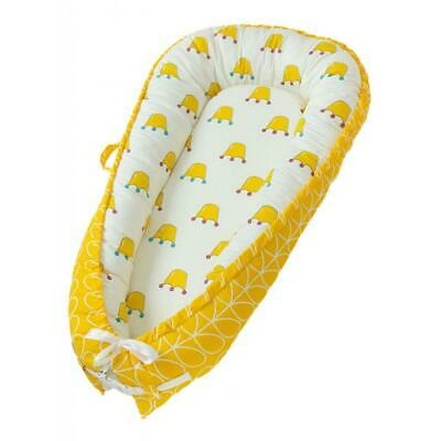 Foldable Travel Outdoor Crib Baby Cotton Sleeping Baby Bassinet Bed Yellow Crown