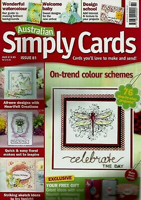 Australian Simply Cards Magazine Issue 81. 2015  Free Embossing Folder & Stamps