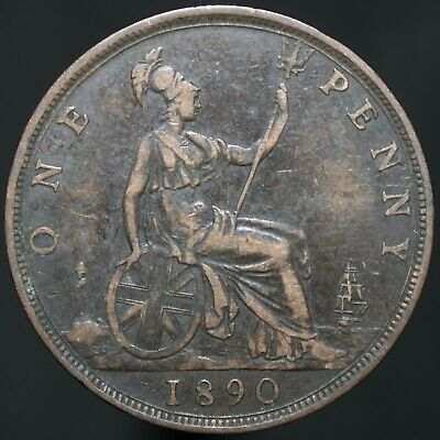 1890 | Victoria One Penny | Bronze | Coins | KM Coins
