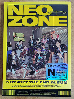 NCT 127 NCT127 2nd ALBUM NCT #127 Neo Zone N VER. CD + POSTCARD + PHOTOCARD