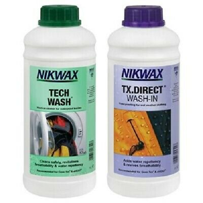 Nikwax Tech Wash / TX Direct Wash-in - Cleaner and Reproofer - 1 Litre