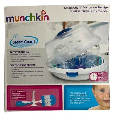Munchkin Steam Guard Microwave Sterilizer  Baby Bottle Washer Cleaner