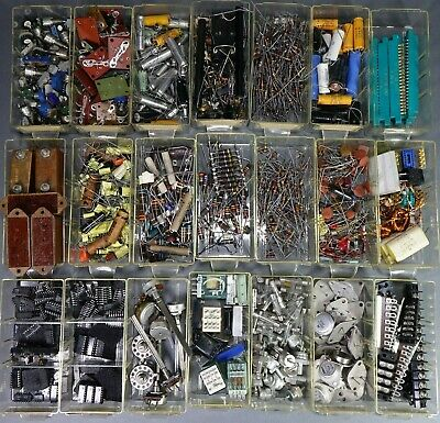 Huge Lot of NOS Capacitors Control Circuits, Potentiometers & Misc - 9 POUNDS