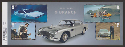 Gb 2020 James Bond 007 Connery Cars Aston Martin Helicopter M/Sheet Mnh