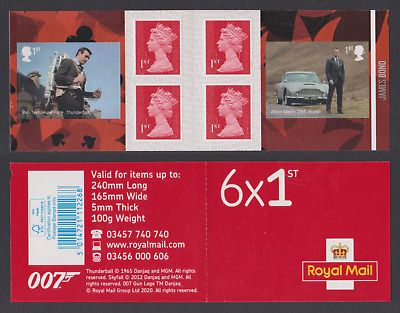 Gb 2020 James Bond 007 Cars Thunderball Skyball Booklet Mnh
