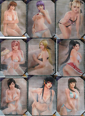 Dead or Alive Xtreme 3 - All 9 B2 Posters - FULL COLLECTION - VERY RARE
