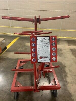 Ensley 10 Reel Wire cart model E290 gently used
