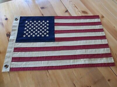 Primitive Americana Flag - Tea Stained - Farmhouse/Country/Rustic