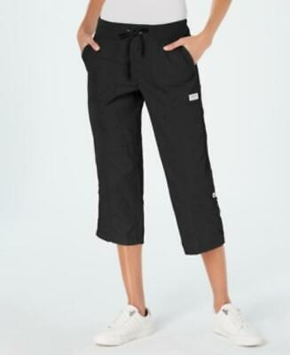 CK Performance Womens Black Capri Cargo Pants $60 TINI {&}