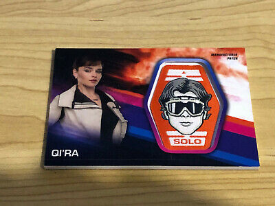 Solo A Star Wars Story - Manufactured Patch Card - QI'RA - NM