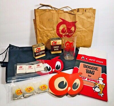 Vintage RED OWL Grocery Store Collectible Lot
