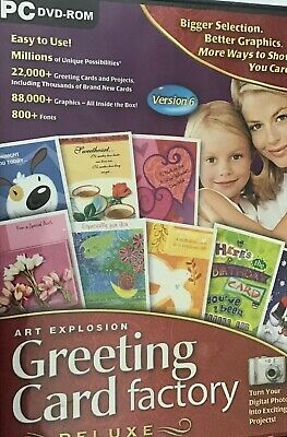 Greeting Card Factory,Version 6,CD-ROM PC ComputerSoftware Program,FreePriorityP