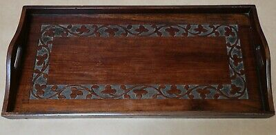 Beautiful Antique Carved Wood Wooden Serving Tray