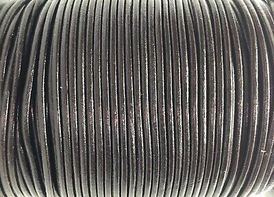 2.5mm Brown Rea Leather Cord Lace Thong String 100m Jewellery Craft