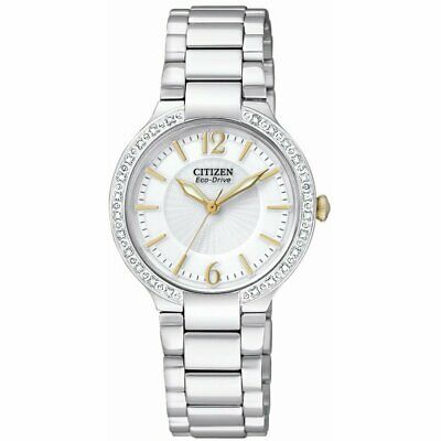 Citizen Eco-Drive Firenza Womens Diamond Accent Stainless Steel Watch EP5974-56A
