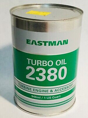 EASTMAN Turbo oil 2380 pil oil can Aviation airplane 1 US Quart 0,95 Liters