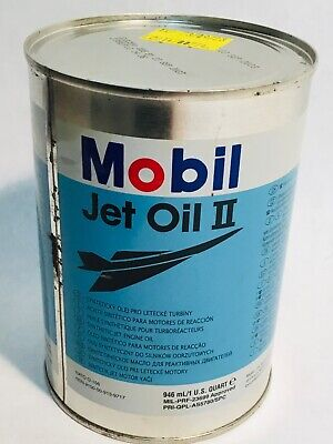 MOBIL Jet oil II pil oil can Aviation airplane 1 US Quart 0,95 Liters