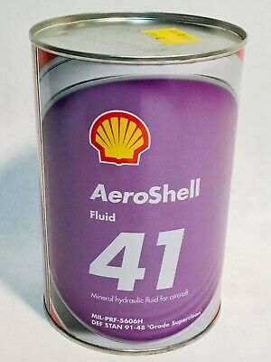 SHELL Aeroshell 41 fluid pil oil can Aviation airplane 1 US Quart 0,95 Liters