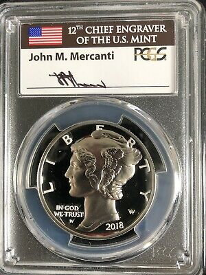 2018-W Palladium Eagle Pd$25 First Day of issue PF70DCAM  1/100 Mercanti Signed