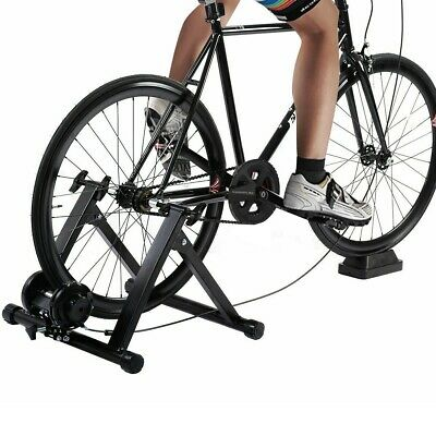 Exercise Bike Bicycle Trainer Stand 7 Levels w/ Resistance Stationary Portable