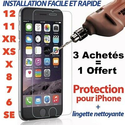 Verre Trempé Vitre Protection Film Écran iPhone 6 6S 7 8 Plus X XR XS 11 PRO MAX